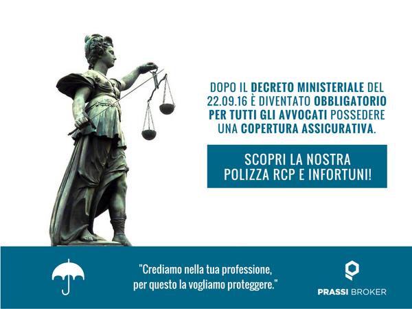 Assicurazione avvocati - RCP e Infortuni