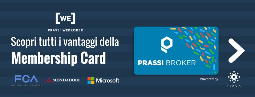 Membership Card Convenzioni e Sconti Prassi Broker
